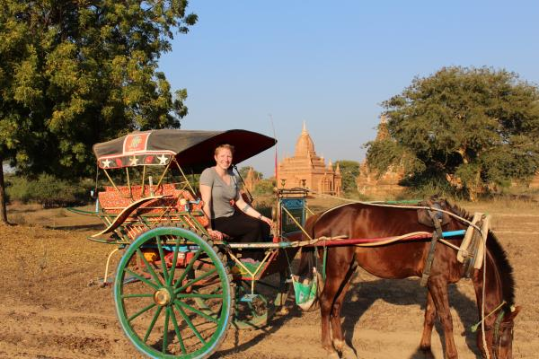 Carriage ride in Bagan