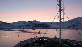 Sunrise in Wilhelmina Bay, Antarctica