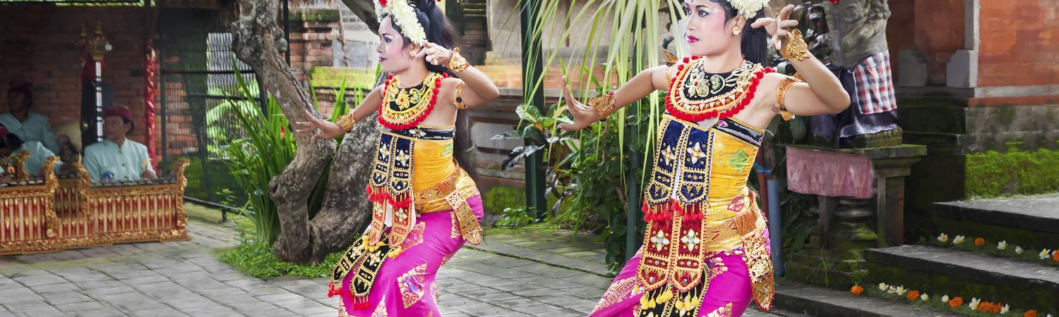 Dancers in a Barong Dance show