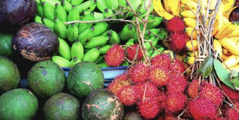 Fruit on display at a Balinese market