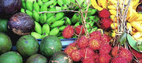 Fruit on display at a Indonesian market