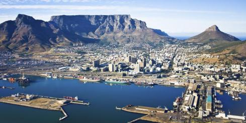 Table Mountain and Cape Town Harbour, South Africa