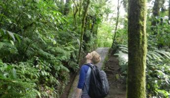 Laura in awe of the cloud forest