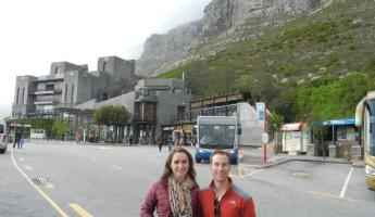 At the base of the Cable Car at Table Mountain