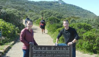 The beginning of the hike to the light house at Cape Point