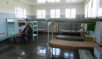 Cell block at Robben Island