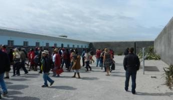 Courtyard for political leaders at Robben Island
