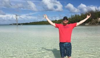 Wandering the flats in the Bahamas