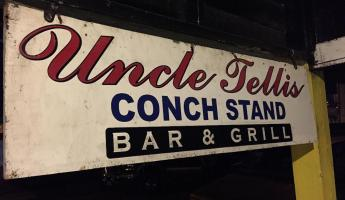 Uncle Tells Conch Stand in Nassau