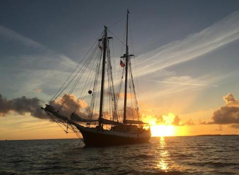Sunset over the Liberty Clipper
