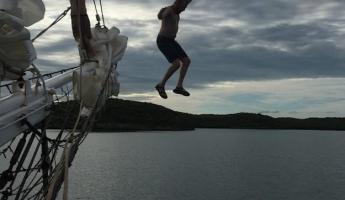 Jumping off the Liberty Clipper