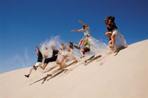 Sand dune jumping