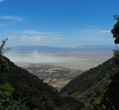 View of Ngorongoro Crater as we exit the park