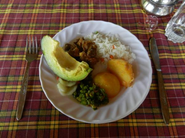 Traditional meal in Tanzania