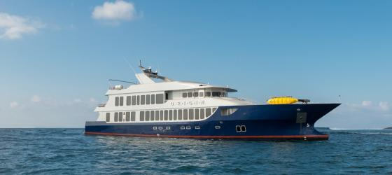 Origin sailing the Galapagos