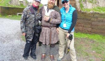 Pictures with a viking - L'Anse aux Meadows