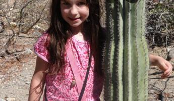 Samantha and Cactus Friend on Santa Catalina