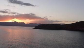 Sunset in Sea of Cortez