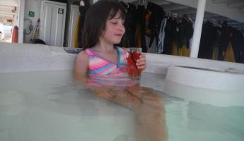 Relaxing in the Hot Tub on the Safari Endeavor