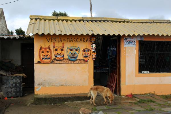 Handicrafts shop in Quilotoa