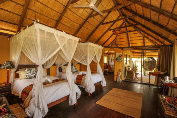 Twin room set up at Nehimba