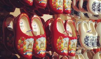 Wooden shoes in Amsterdam airport