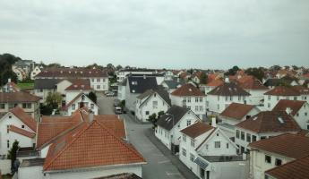 View of Stavanger from hotel window