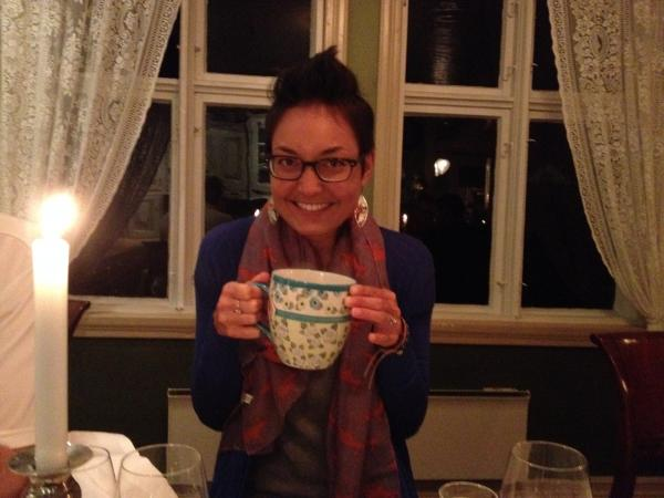 Post-dinner tea at Walaker Hotell, the oldest hotel in Norway