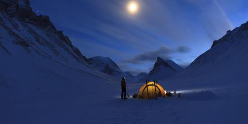 Camping in the Polar regions