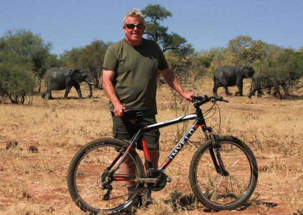 Mountain biking along elephant paths