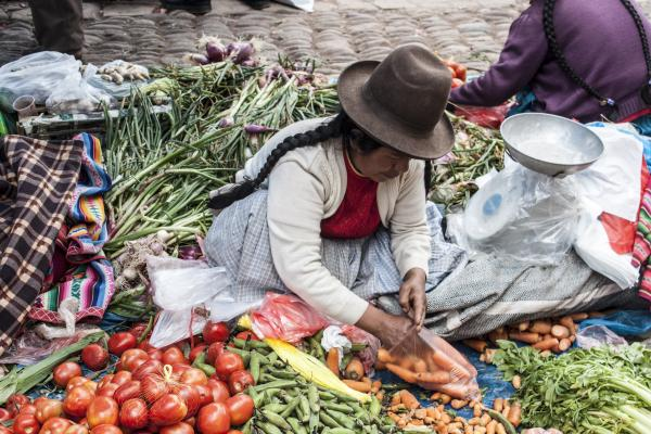 Peruvian vegetable market