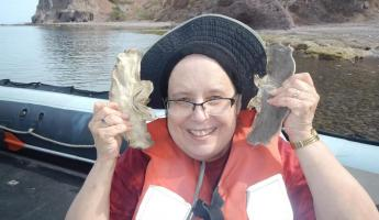 Nana showing off ocean finds