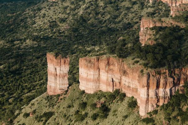 The red sandstone Chilojo Cliffs