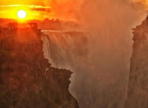 The thundering Victoria Falls