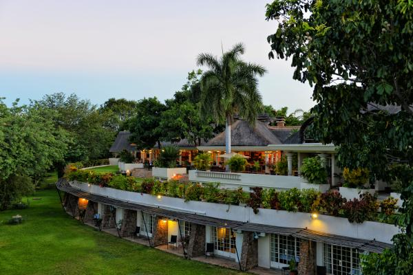 Ilala Lodge Exterior at Dusk